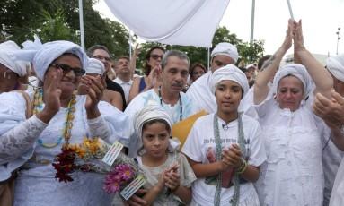 Ato contra a intolerância religiosa em 2015, na Penha Foto: Marcio Alves / O Globo (21/06/2015)