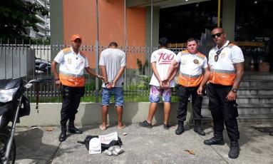 Dupla foi detida após abordagem em Icaraí Foto: Divulgação