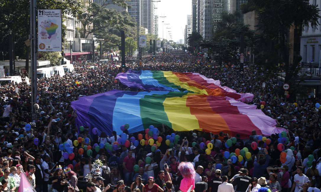 Parada do Orgulho LGBT de 2017 em São Paulo Foto: Marcos Alves / Agência O Globo (18/06/2017)