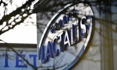 Sede do grupo Lactalis está sendo inspecionada por magistrados e policiais após MP abrir investigação sobre contaminação de leite com salmonela Foto: JEAN-FRANCOIS MONIER/AFP