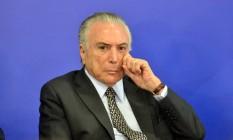 O presidente Michel Temer Foto: Renato Costa/FramePhoto/Agência O Globo / Agência O Globo