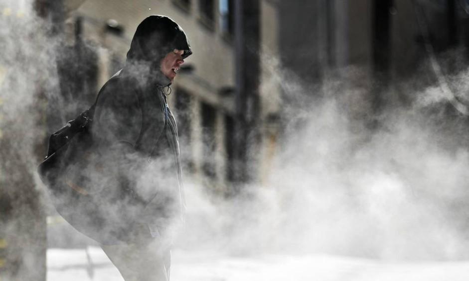 Vento e baixas temperaturas em Nova Orleans e outras cidades Foto: David Goldman / AP