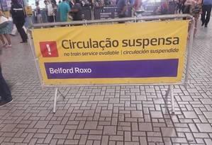 Circulação de trem é interrompida por tiroteio no Jacarezinho Foto: Foto: Mobilidade sobre trilhos carioca/Reprodução