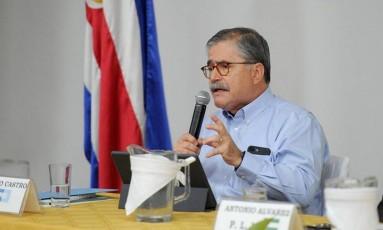 Juan Diego Castro: acusações violentas por ter sido questionado Foto: Melissa Fernández / La Nación (Costa Rica)/GDA