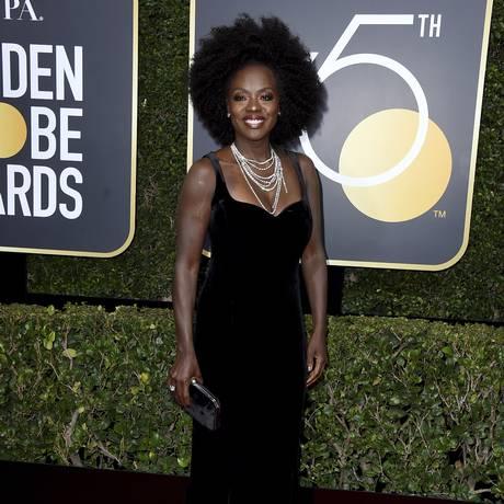 Viola Davis no Globo de Ouro 2018 Foto: Jordan Strauss / Jordan Strauss/Invision/AP
