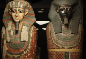 As múmias dos meio-irmãos estão expostas no Museu de Manchester Foto: Universidade de Manchester