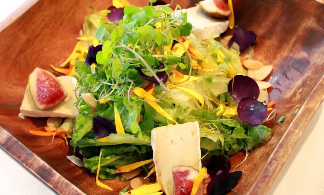 A dica do chef Romano Fontanive é a salada Gabbiano: mix de folhas orgânicas com amêndoas, figo e queijo brie na chapa com redução de balsâmico envelhecido (R$ 48). Av. das Américas 3.255, Shopping Barra Garden (3153-5529). Foto: Divulgação/Pedro Lopes