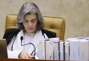 A Ministra Carmen Lucia Foto: Jorge William / Agência O Globo