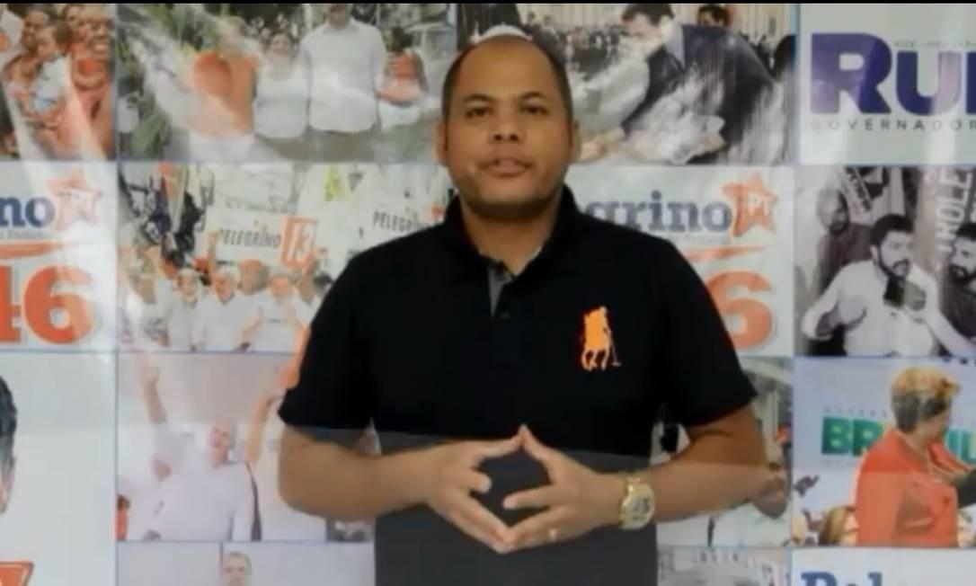José Roberto Soares Vieira, ex-vice prefeito de Ourolândia Foto: Reprodução / Youtube