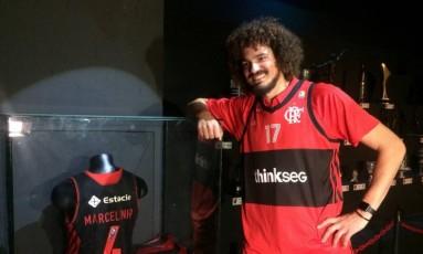 Anderson Varejão é apresentado pelo Flamengo Foto: Divulgação