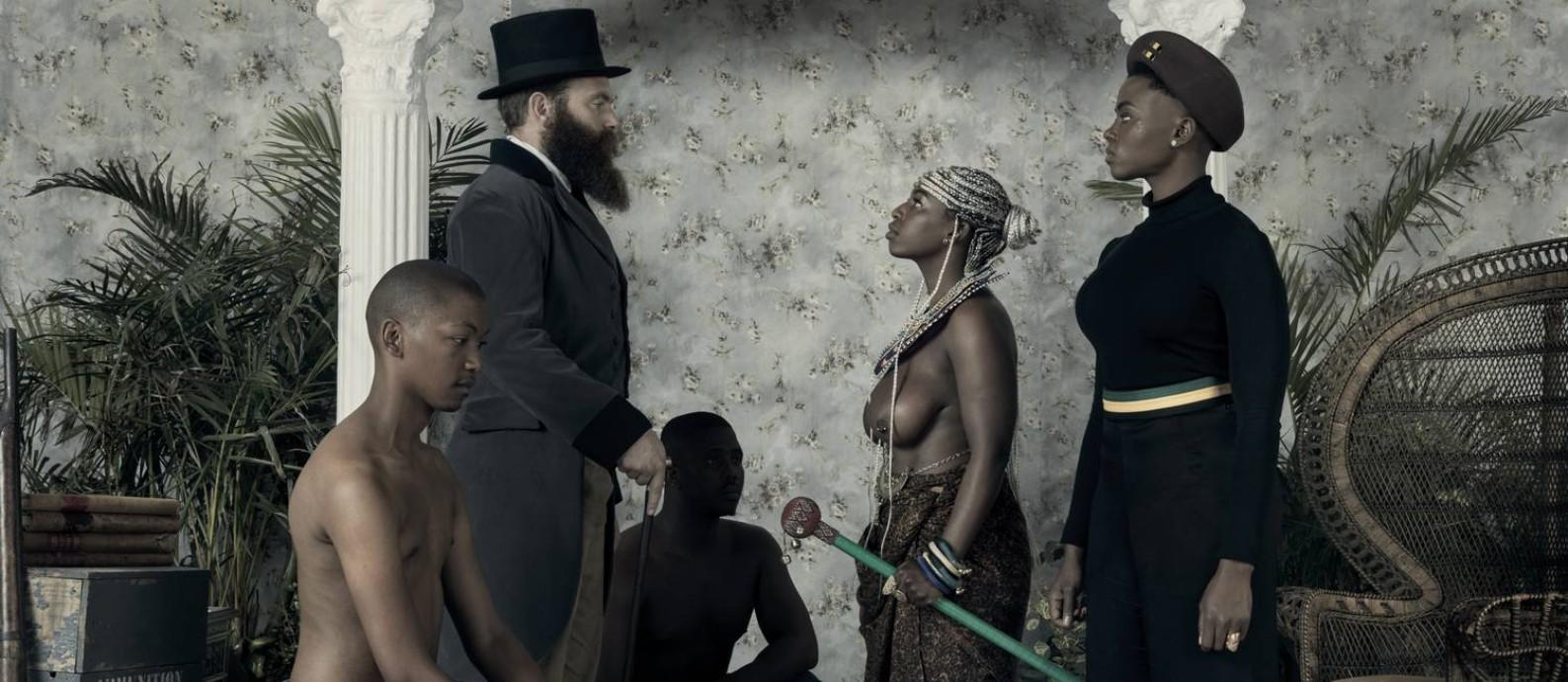 A obra 'Genesis', de Kudzanai Chiurai, está na exposição 'Ex Africa', no CCBB Foto: Divulgação