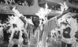 Martinho da Vila, em 1988, no desfile em que a Vila Isabel ganhou o Carnaval com' 'Kizomba' Foto: Jorge William / Agência O Globo