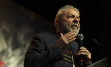 O ex-presidente Lula participa de evento no Rio de Janeiro Foto: Guito Moreto/Agência O Globo/16-01-2018 / Agência O Globo