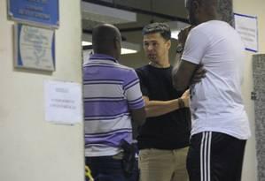 Antônio de Almeida Anaquim, na delegacia Foto: Uanderson Fernandes / Agência O Globo