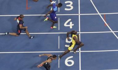 Final da disputa dos 100 metros na Olimpíada do Rio, em que Usain Bolt foi o vencedor. Foto: Morry Gash / AP