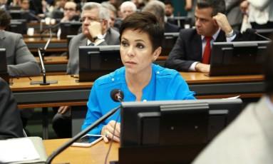 Deputada Cristiane Brasil (PTB-RJ) na Câmara dos Deputados Foto: Agência O Globo