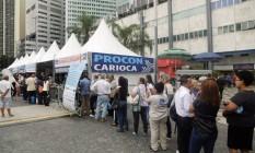 Mutirão de conciliação promovido pelo Procon Carioca, no Largo da Carioca Foto: Divulgação