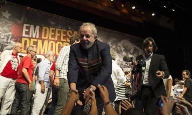 Lula participa de ato com artistas no Rio Foto: Guito Moreto / Agência O Globo 16/01/2018
