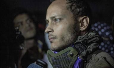 O militar rebelde venezuelano Oscar Perez morto em uma operação das forças de segurança Foto: INAKI ZUGASTI / AFP