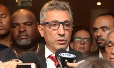 Alexandre Campello conversa com a imprensa após ser eleito presidente do Vasco Foto: Paulo Fernandes/Vasco