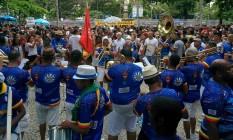 Pré-carnaval. Foliões lotaram Praça General Osório durante festa da Banda de Ipanema Foto: Uanderson Fernandes / Agência O Globo