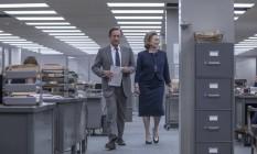 """Tom Hanks vive o editor-chefe do """"Washington Post"""", e Meryl Streep interpreta a dona do diário em 1971: na trama dirigida por Spielberg, eles encaram o risco de publicar informações secretas do governo Nixon Foto: Divulgação"""