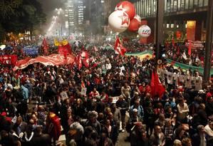 Manifestação em defesa de Lula foi negada pela Justiça Foto: Edilson Dantas / Agência O Globo 20/07/2017