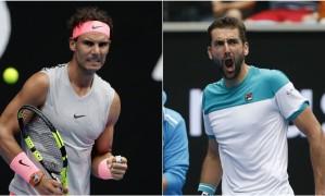 Nadal e Cilic vão se enfrentar nas quartas de final Foto: AP e Reuters
