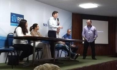 João Berchmans de Araújo, com o prefeito Marcello Crivella Foto: Divulgação