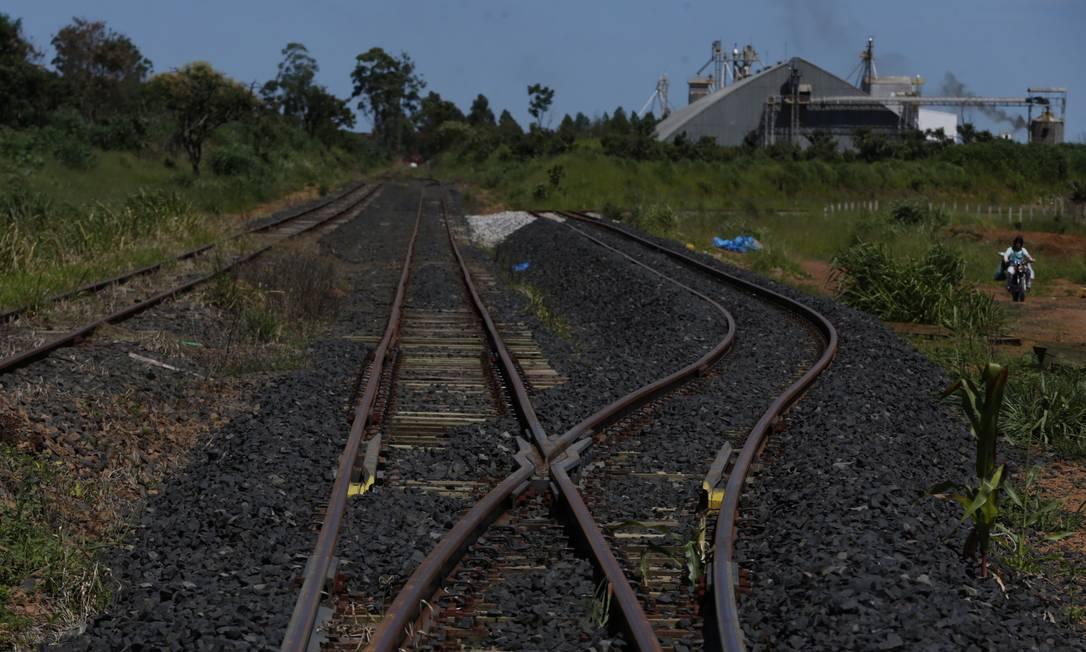 A estação General Curado na ferrovia Norte-Sul, trecho em Anápolis, Goiás, nos planos do governo para privatização Foto: / Michel Filho