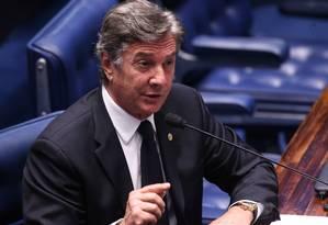 Senador Fernando Collor de Melo (PTC-AL) no plenário do Senado Foto: Ailton de Freitas / Agência O Globo