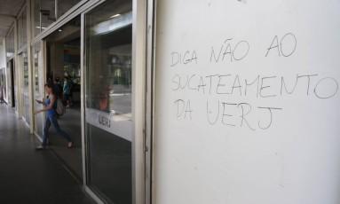 Primeiro dia de volta às aulas na Uerj Foto: Pedro Teixeira / Agência O Globo