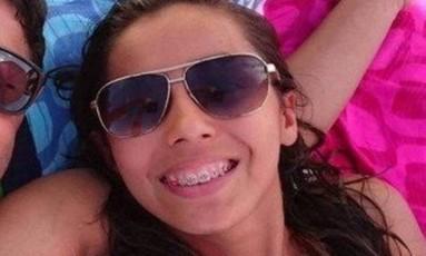 Larisse, baleada durante um assalto na Praia da Reserva Foto: Reprodução