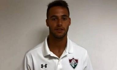 De Amores, novo goleiro do Fluminense Foto: Reprodução