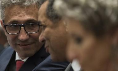 Alexandre Campello é empossado presidente do Vasco, na sede nautica do clube, na Lagoa Foto: Guito Moreto / Agência O Globo