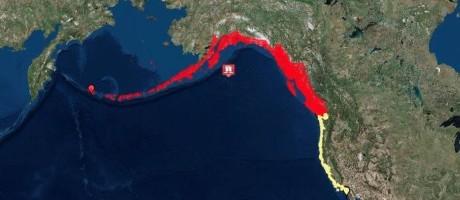 Costa dos EUA e Alasca estão sob alerta para tsunami Foto: NWS