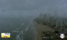 Imagem gravada pelo helicóptero antes da queda Foto: Reprodução/TV Globo