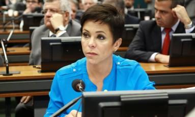 Deputada Cristiane Brasil (PTB-RJ) durante sessão na Câmara Foto: Agência O Globo