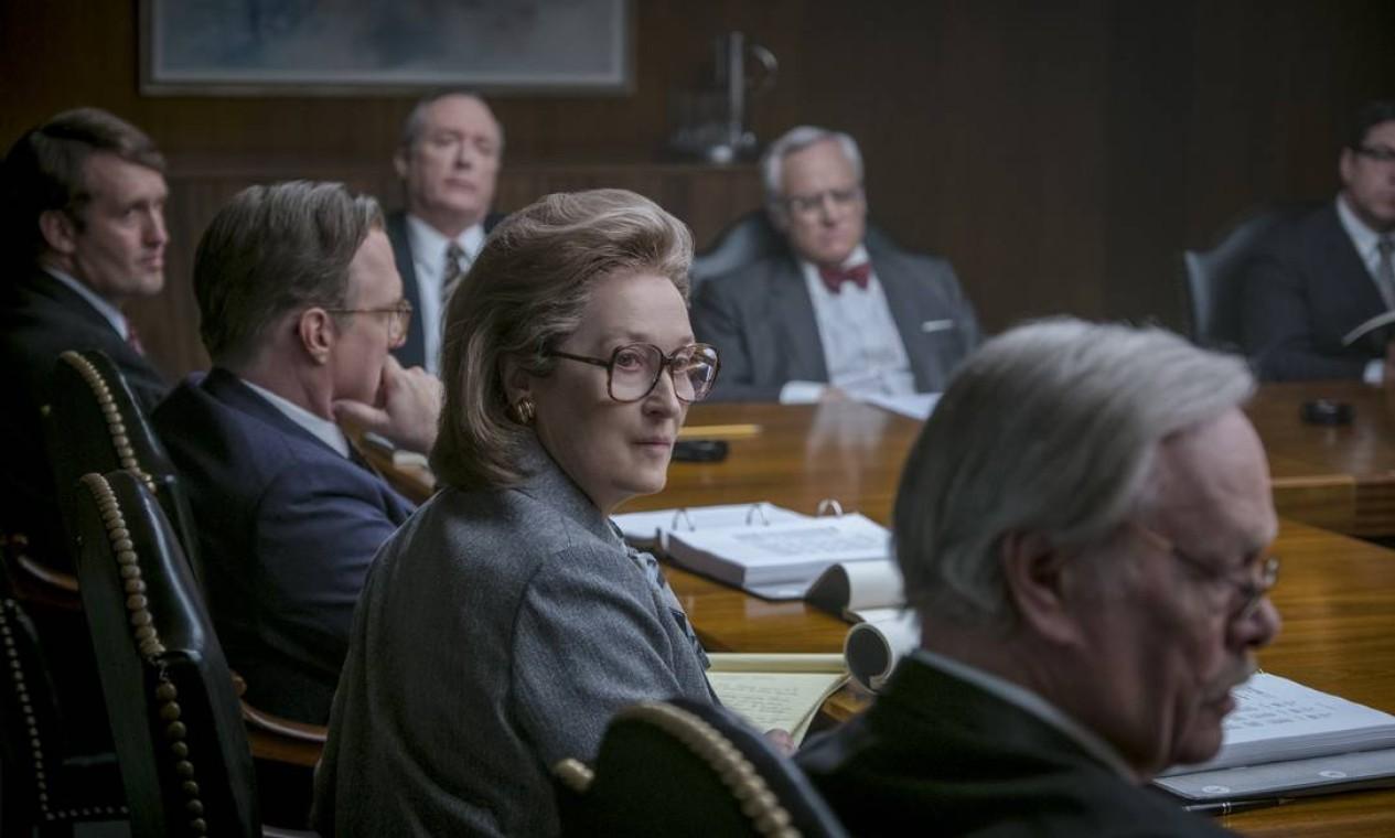 """""""The Post"""": filme de Steven Spielberg com Meryl Streep repassa momento importante na história do jornalismo americano — produção foi indicada ao Oscar Foto: Divulgação / Divulgação"""