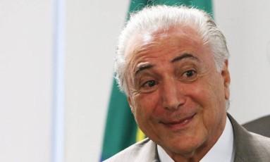 Presidente Michel Temer vê crescimento maior da economia em 2018. Foto Aílton de Freitas/Agência O Globo