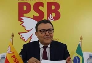 O presidente do PSB, Carlos Siqueira, durante reunião do Diretório Nacional do partido Foto: Ailton de Freitas/Agência O Globo/16-01-2017 / Agência O Globo