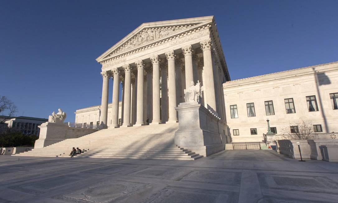"""O prédio da Suprema Corte, em Washington DC, onde algumas cenas do filme """"The post - a guerra secreta"""" foram filmadas. A película dirigida por Steven Spielberg é estrelada por Meryl Streep e Tom Hanks Foto: 'J. Scott Applewhite / AP"""