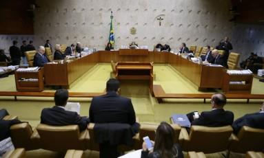 Sessão plenário do Supremo Tribunal Federal (STF) Foto: Jorge William/Agência O Globo/14-12-201
