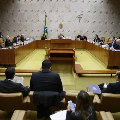 Plenário do Supremo Tribunal Federal (STF) Foto: Jorge William/Agência O Globo/14-12-201