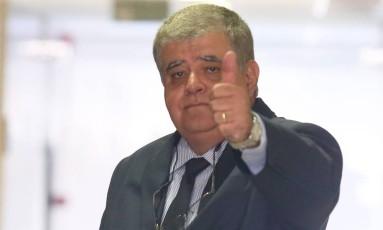 O ministro da Secretaria Geral da Presidência, Carlos Marun, durante entrevista sobre a reforma da Previdência Foto: Ailton de Freitas / Agência O Globo