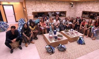 Brothers já estão na casa do 'BBB 18' Foto: TV Globo
