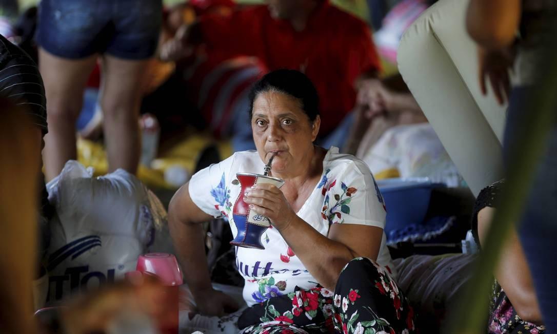 Com direito a chimarrão Foto: Domingos Peixoto / Agência O Globo