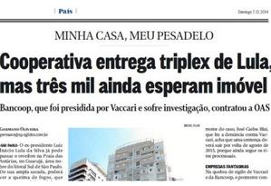 O GLOBO revelou reserva de tríplex pela OAS destinado a Lula Foto: Reprodução