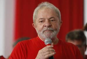 Lula afirma que está tranquilo durante julgamento de recurso no processo de caso do tríplex no Guarujá Foto: Edilson Dantas / Agência O Globo