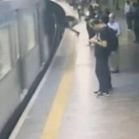 Sebastião Silva empurrou mulher nos trilhos do metrô Foto: Reprodução